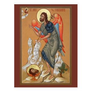 Johannes die Vorläufer-Gebets-Karte Postkarte