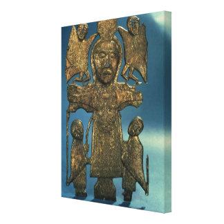Johannes Kreuzigungs-Plakette, spätes 7. Jahrhunde Leinwand Druck