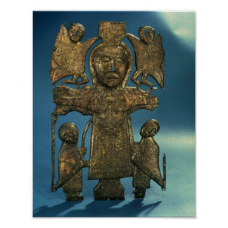 Johannes Kreuzigungs-Plakette, spätes 7. Jahrhunde Poster