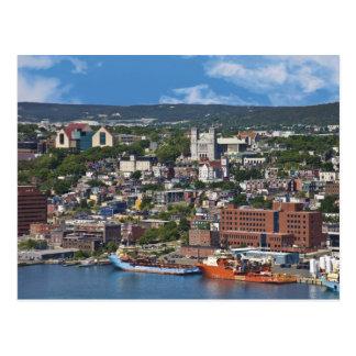 Johannes, Neufundlands, Kanada, die Küstenlinie Postkarte