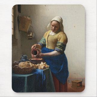JOHANNES VERMEER - Der Milkmaid 1658 Mauspads