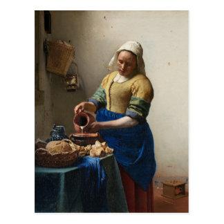 JOHANNES VERMEER - Der Milkmaid 1658 Postkarte