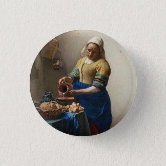 JOHANNES VERMEER - Der Milkmaid 1658 Runder Button 2,5 Cm