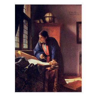 Johannes Vermeer - die Geograph-Postkarte Postkarte