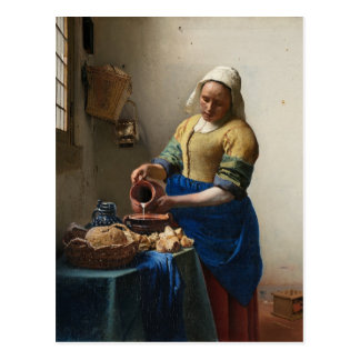 Johannes Vermeer - die Milkmaid-Postkarte Postkarte