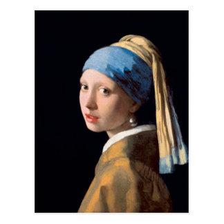 JOHANNES VERMEER - Mädchen mit einem Perlenohrring Postkarte