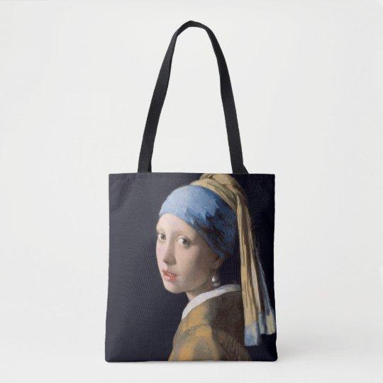 Johannes Vermeer Mädchen Mit Einem Perlenohrring Tasche Zazzlede