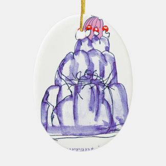 Johannisbeeren-Geleekatze der tony fernandess Keramik Ornament