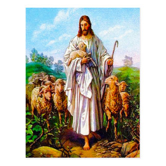 John-10:7 - 21 bin ich der gute Hirte-Postkarte Postkarte