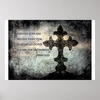 John-15:13 Schrifts-Plakat Poster
