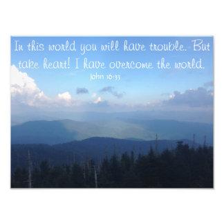 John-16:33 - inspirierend Zitat-Plakat Fotodruck