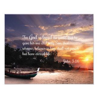 John-3:16 #1 NIV - Scripture-christliche Fotodruck