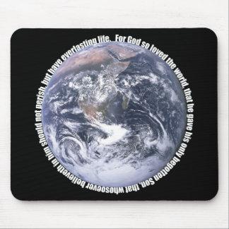 John-3:16 Erde christliches Mousepad
