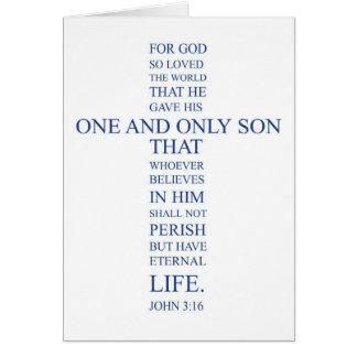 John-3:16 freier Raum Notecard Karte