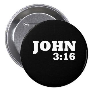 John-3:16 Runder Button 7,6 Cm