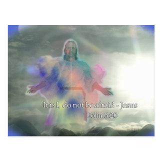 John-6:20 haben nicht Angst. Jesus, der auf Wasser Postkarte