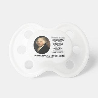 John Adams-Gefahr alle Mann-Maxime geben Regierung Baby Schnuller