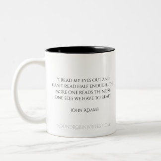 John- Adamszitat-Tasse Zweifarbige Tasse