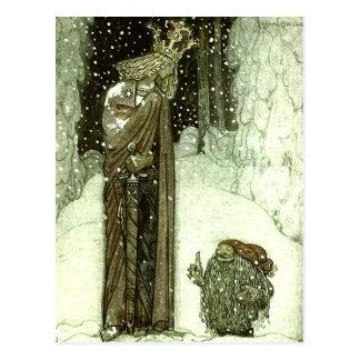 John Bauer die Prinzessin und die Schleppangel Postkarte