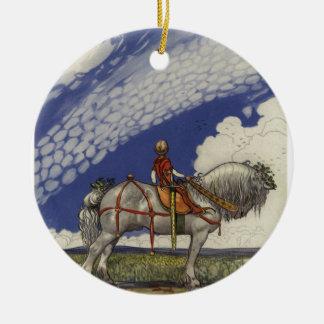 """John Bauer - """"in die weite Welt """" Rundes Keramik Ornament"""