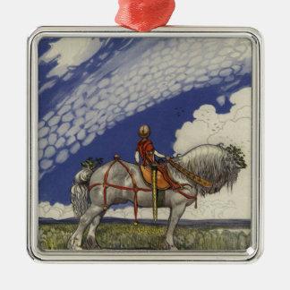 John Bauer - in die weite Welt Silbernes Ornament