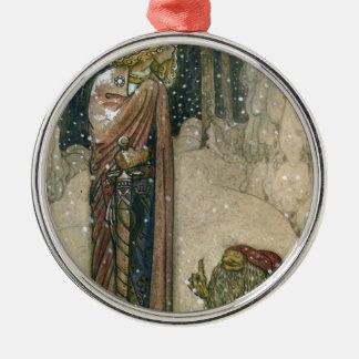John Bauer - Prinzessin und Schleppangel Silbernes Ornament