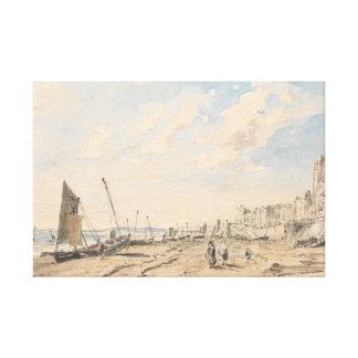 John Constable - Brighton-Strand, der West schaut Leinwanddruck