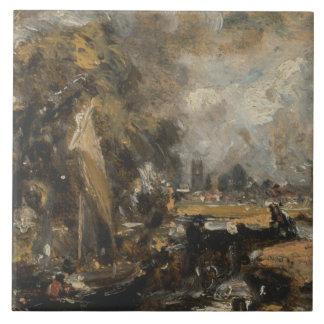 John Constable - Dedham Verschluss Keramikfliese