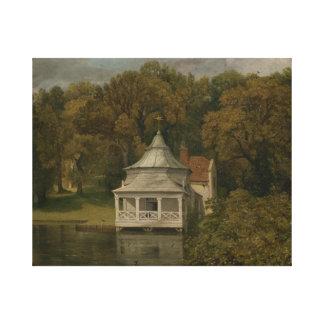 John Constable - die Viertel hinter Alresford Hall Leinwanddruck