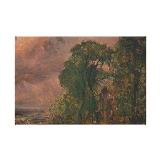 John Constable - eine Ansicht bei Hampstead mit Leinwanddruck