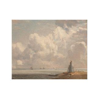John Constable - Harwich - der niedrige Leuchtturm Leinwanddruck