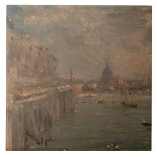 John Constable - Somerset-Haus-Terrasse vom Wasser Fliese