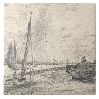 John Constable - Verschiffen auf der Themse Keramikfliese