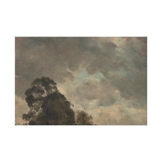 John Constable - Wolken-Studie Leinwanddruck