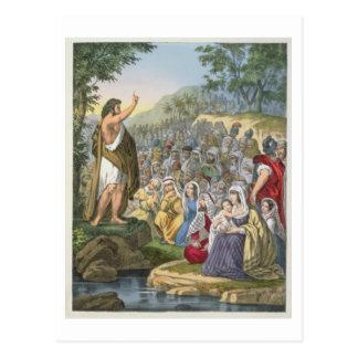 John, der in der Wildnis, von einem Bibel pri Postkarte