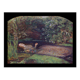 John Everett Millais Ophelia Postkarte