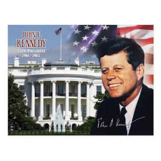 John F. Kennedy - 35. Präsident der US Postkarte