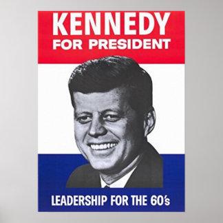 John F. Kennedy für Präsidenten Poster