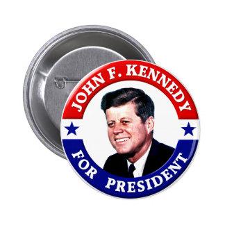 John F. Kennedy für Präsidenten Runder Button 5,1 Cm