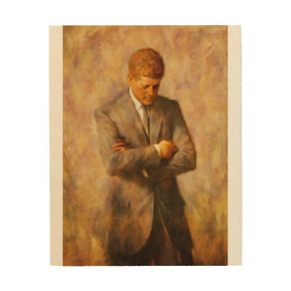John Fitzgerald Kennedy Holzwanddeko