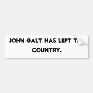 John Galt hat das Land verlassen Autoaufkleber
