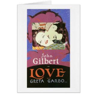 John Gilbert in der LIEBE mit Greta Garbo Karte