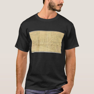 John-Hügel-Karte von Monmouth County New-Jersey T-Shirt