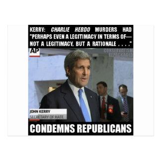 John Kerry: Minister für Hass Postkarte