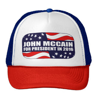 John McCain-Präsident 2016 Truckerkappe