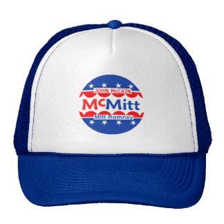 John McCain u. Hut Mitt Romneys McMitt Retrokultkappen