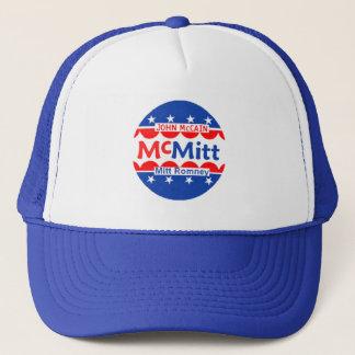 John McCain u. Hut Mitt Romneys McMitt Truckerkappe