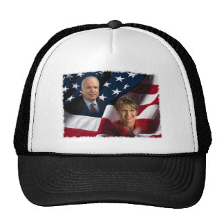 John McCain u. Sarah Palin, 2008 Wahlen Retrokultmütze