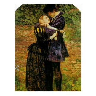 John Millais-Ablehnung von Schutz durch Huguenot Postkarte