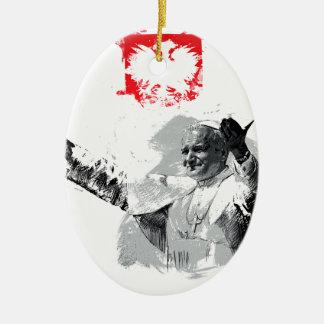 John Paul das zweite Keramik Ornament